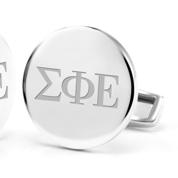 Sigma Phi Epsilon Sterling Silver Cufflinks - Image 2