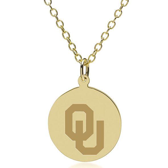Oklahoma 14K Gold Pendant & Chain