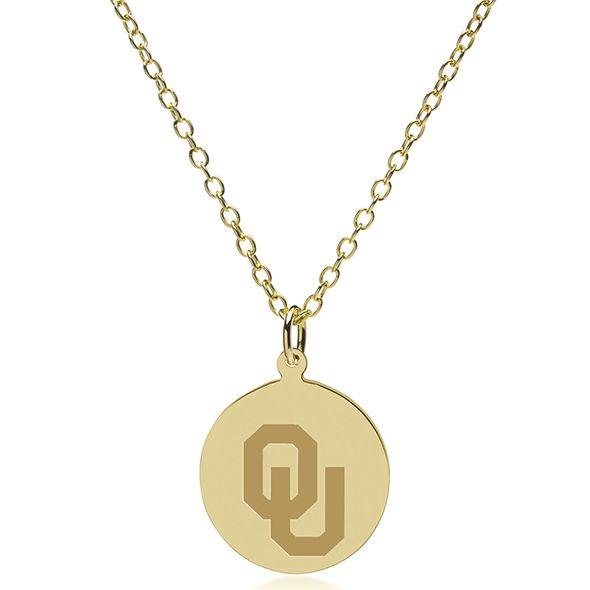 Oklahoma 14K Gold Pendant & Chain - Image 2