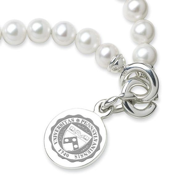 Penn Pearl Bracelet with Sterling Silver Charm - Image 2
