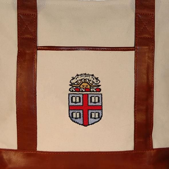 Brown University Needlepoint Tote - Image 2