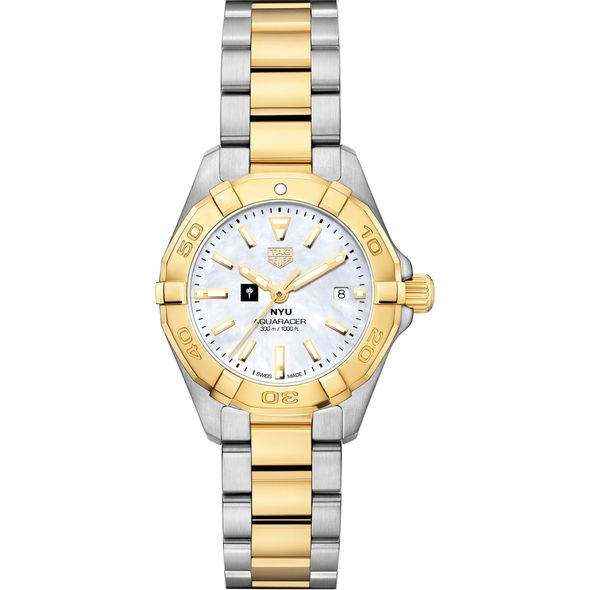 New York University TAG Heuer Two-Tone Aquaracer for Women - Image 2
