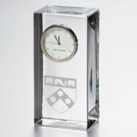 Penn Tall Glass Desk Clock by Simon Pearce