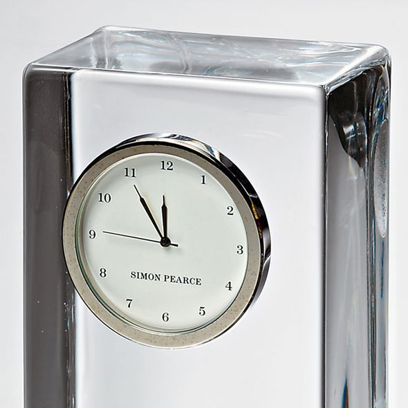 Penn Tall Glass Desk Clock by Simon Pearce - Image 3