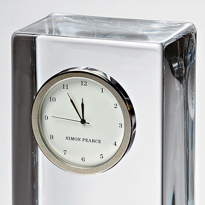 Penn Tall Glass Desk Clock by Simon Pearce - Image 3