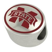 Mississippi State Enameled Bead in Color