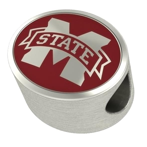 Mississippi State Enameled Bead in Color - Image 2