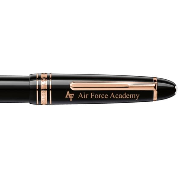 US Air Force Academy Montblanc Meisterstück LeGrand Rollerball Pen in Red Gold - Image 2