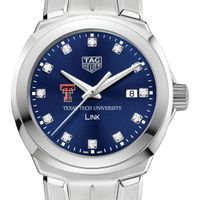 Texas Tech Women's TAG Heuer Link with Blue Diamond Dial