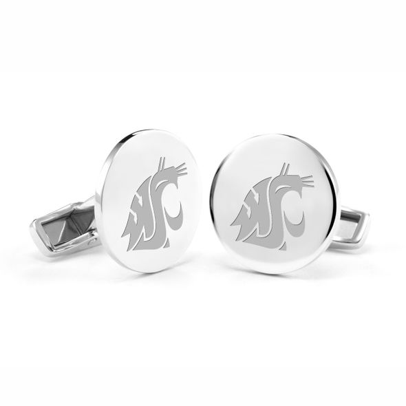 Washington State University Cufflinks in Sterling Silver