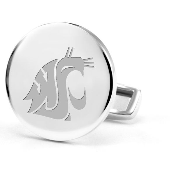 Washington State University Cufflinks in Sterling Silver - Image 2