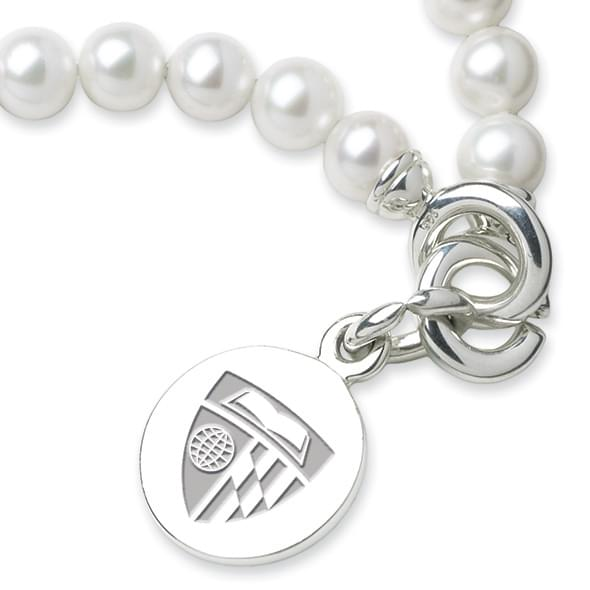 Johns Hopkins Pearl Bracelet with Sterling Silver Charm - Image 2