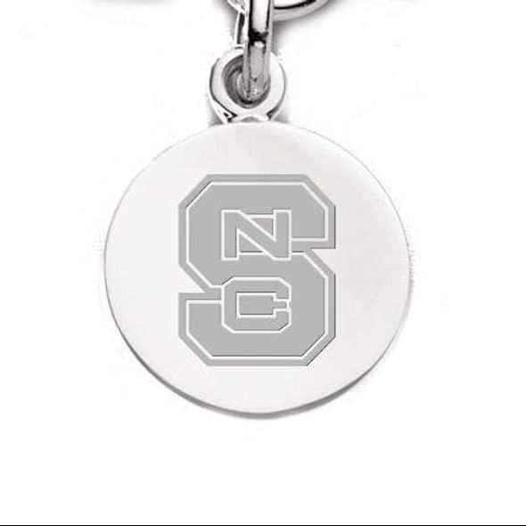 NC State Sterling Silver Charm - Image 1