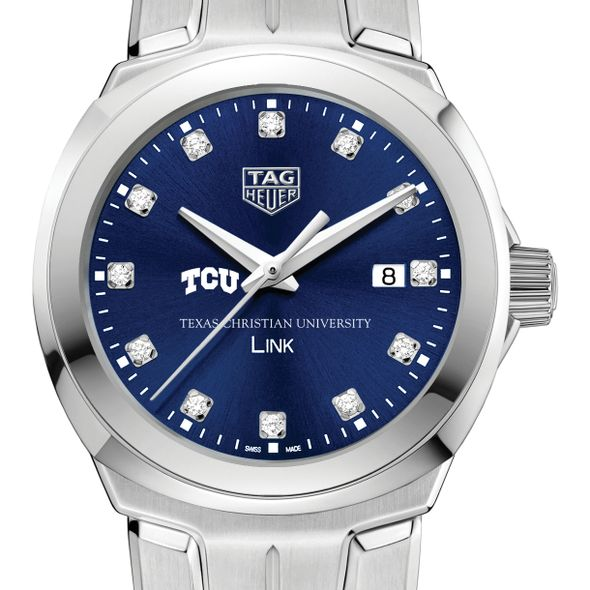 Texas Christian University Women's TAG Heuer Link with Blue Diamond Dial - Image 1