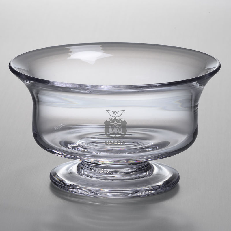Coast Guard Academy Medium Glass Revere Bowl by Simon Pearce