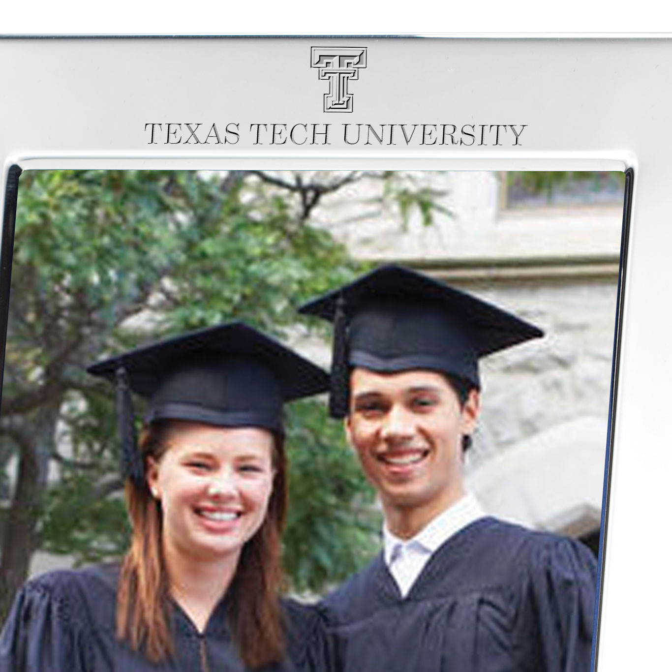 Texas Tech Polished Pewter 5x7 Picture Frame - Image 2