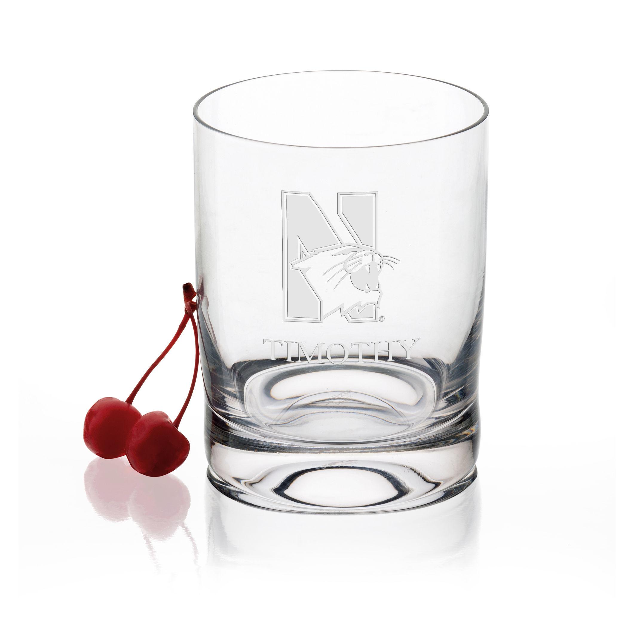 Northwestern University Tumbler Glasses - Set of 4