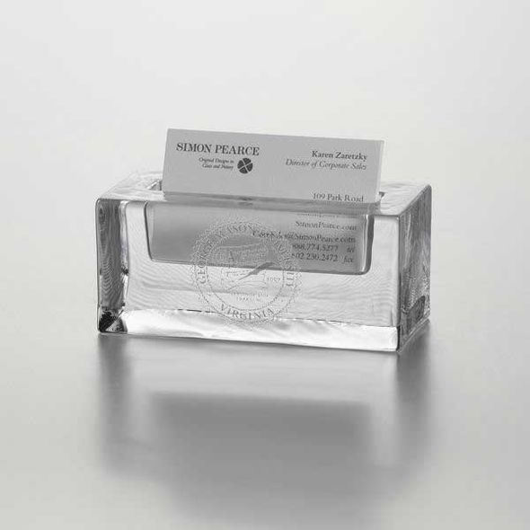 George Mason University Glass Business Cardholder by Simon Pearce