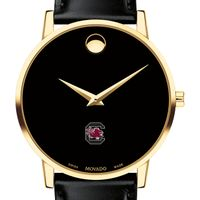South Carolina Men's Movado Gold Museum Classic Leather