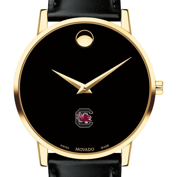 University of South Carolina Men's Movado Gold Museum Classic Leather
