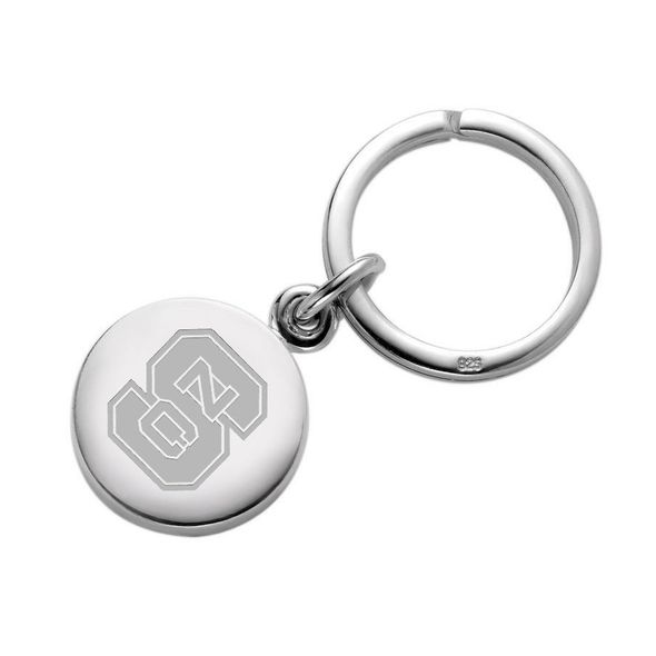 North Carolina State Sterling Silver Insignia Key Ring