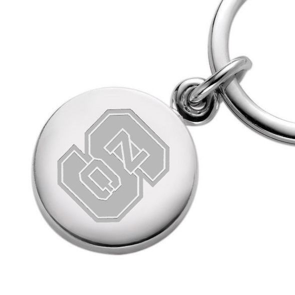 North Carolina State Sterling Silver Insignia Key Ring - Image 2