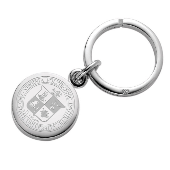 Virginia Tech Sterling Silver Insignia Key Ring