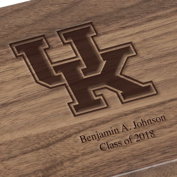 University of Kentucky Solid Walnut Desk Box - Image 3