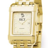 Rice University Men's Gold Quad with Bracelet