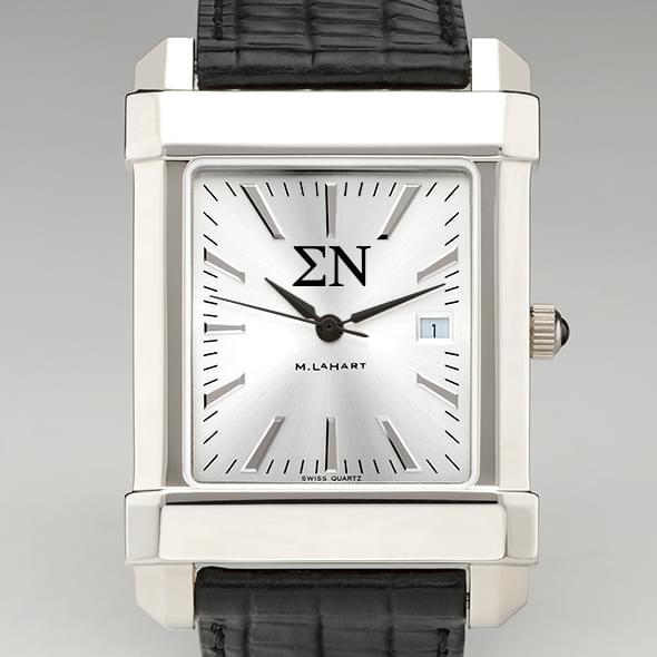 Sigma Nu Men's Collegiate Watch with Leather Strap