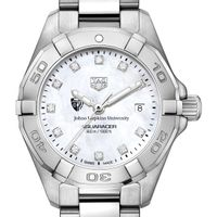Johns Hopkins University W's TAG Heuer Steel Aquaracer w MOP Dia Dial