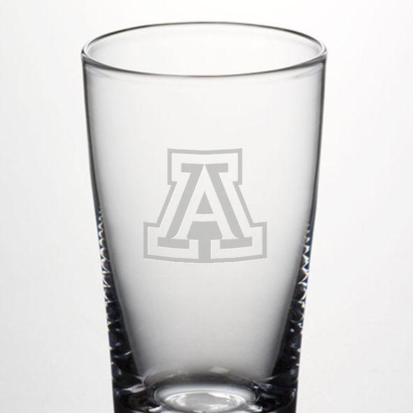 University of Arizona Ascutney Pint Glass by Simon Pearce - Image 2