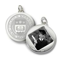 Boston College Monica Rich Kosann Round Charm in Silver