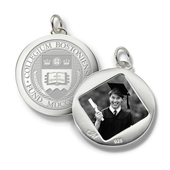 Boston College Monica Rich Kosann Round Charm in Silver