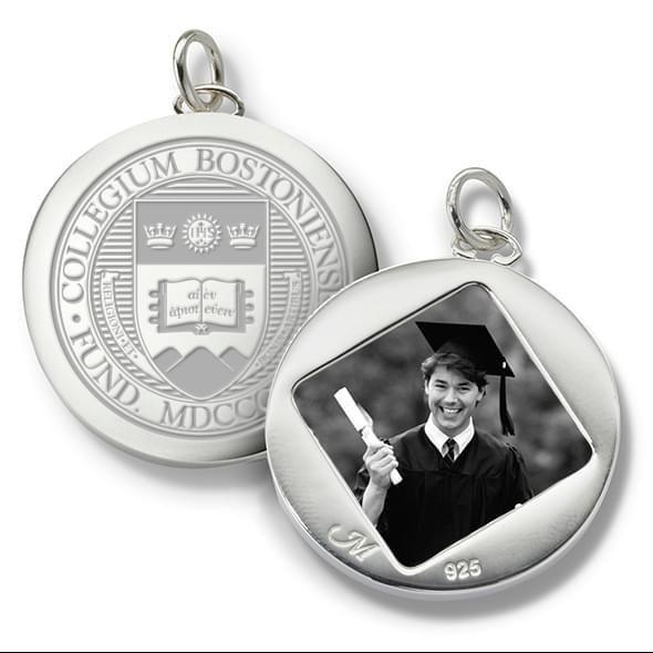 Boston College Monica Rich Kosann Round Charm in Silver - Image 2