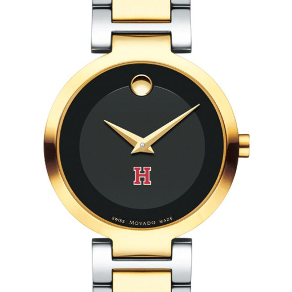 Harvard University Women's Movado Two-Tone Modern Classic Museum with Bracelet