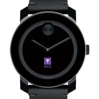 NYU Men's Movado BOLD with Leather Strap