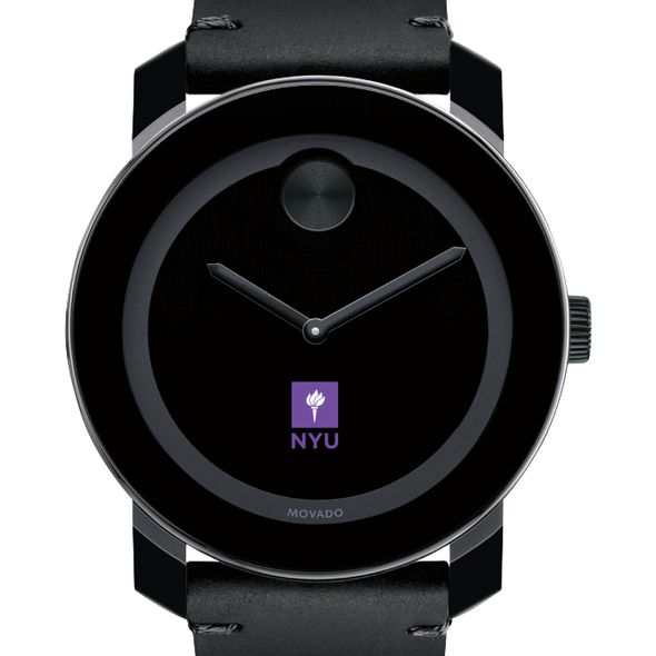 New York University Men's Movado BOLD with Leather Strap