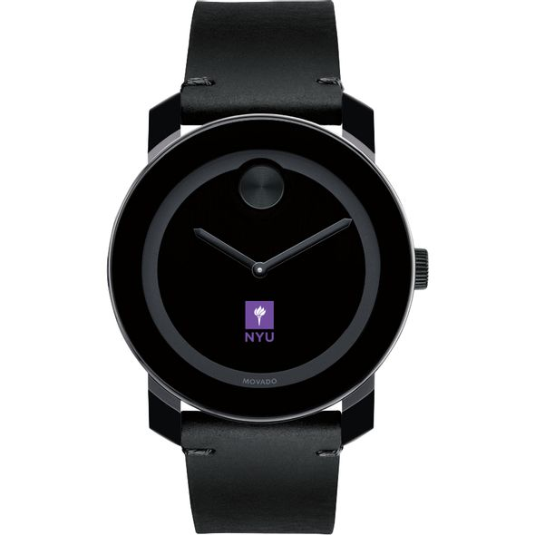 New York University Men's Movado BOLD with Leather Strap - Image 2