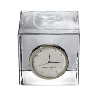 East Tennessee State University Glass Desk Clock by Simon Pearce
