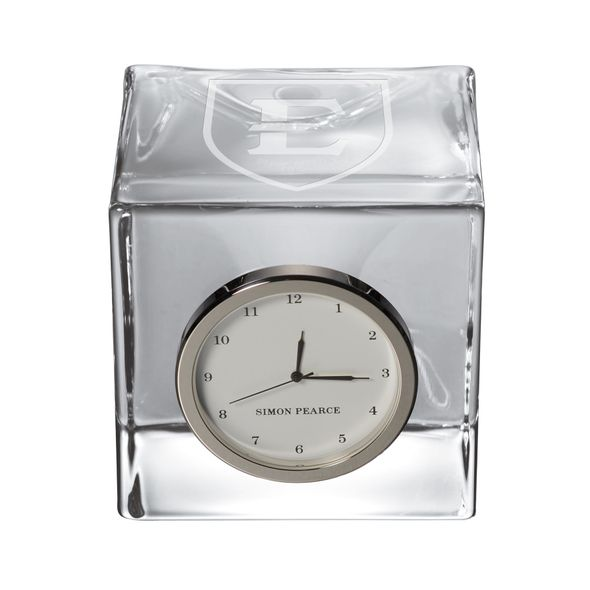 East Tennessee State University Glass Desk Clock by Simon Pearce - Image 1
