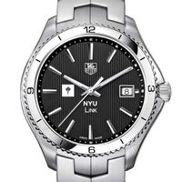 NYU TAG Heuer Men's Link Watch with Black Dial