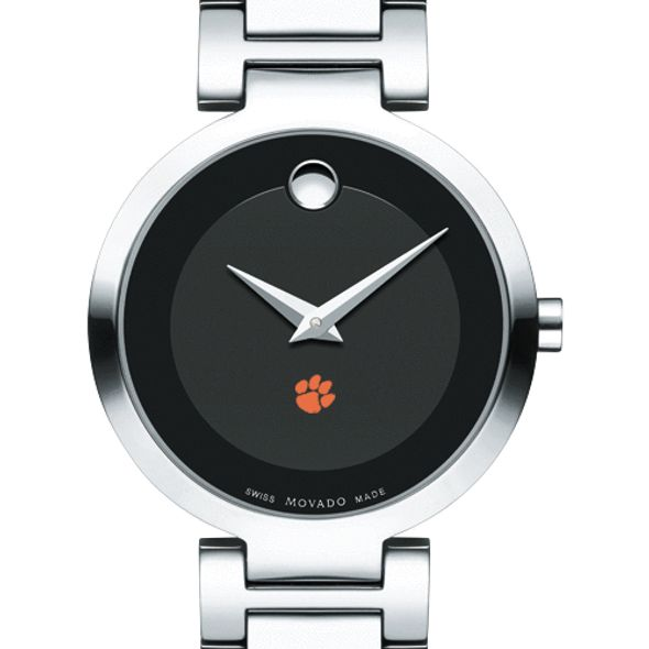 Clemson Women's Movado Museum with Steel Bracelet