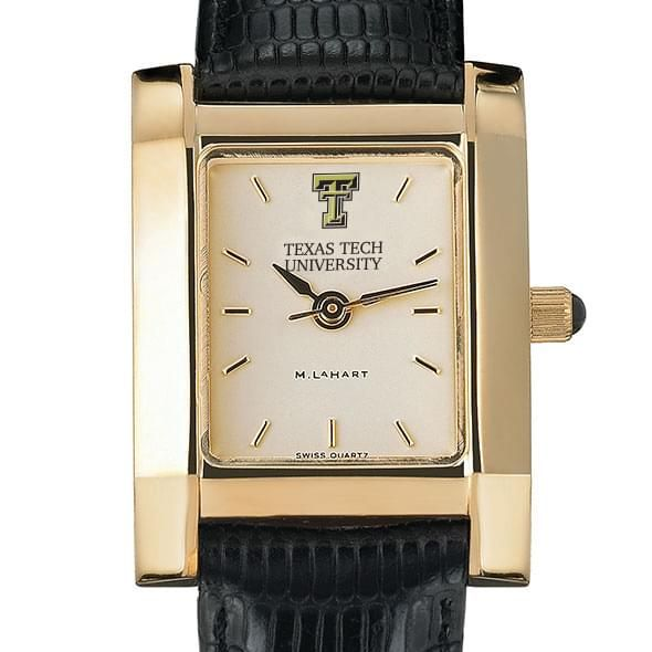 Texas Tech Women's Gold Quad with Leather Strap