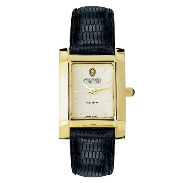 Tennessee Women's Gold Quad Watch with Leather Strap - Image 2