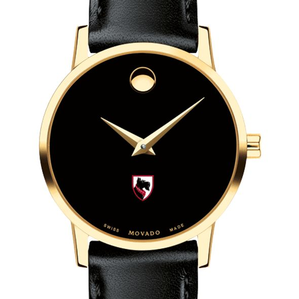 Carnegie Mellon University Women's Movado Gold Museum Classic Leather