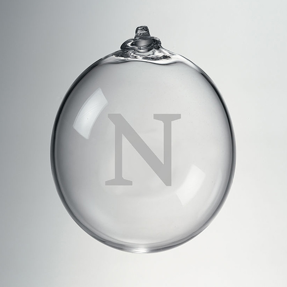 Northwestern Glass Ornament by Simon Pearce