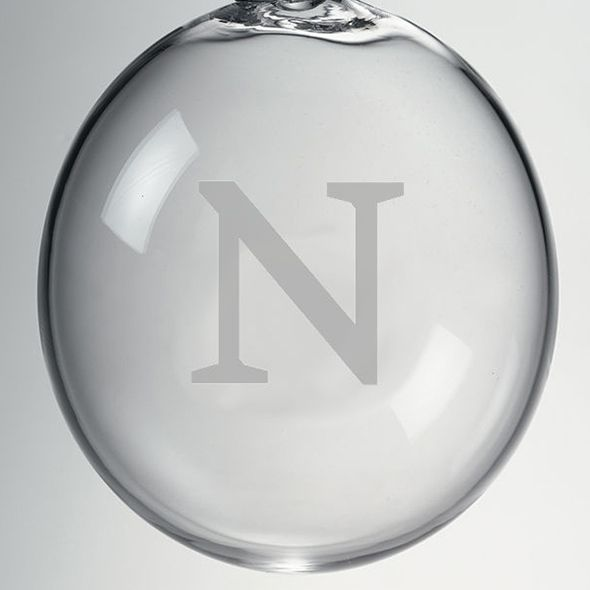 Northwestern Glass Ornament by Simon Pearce - Image 2