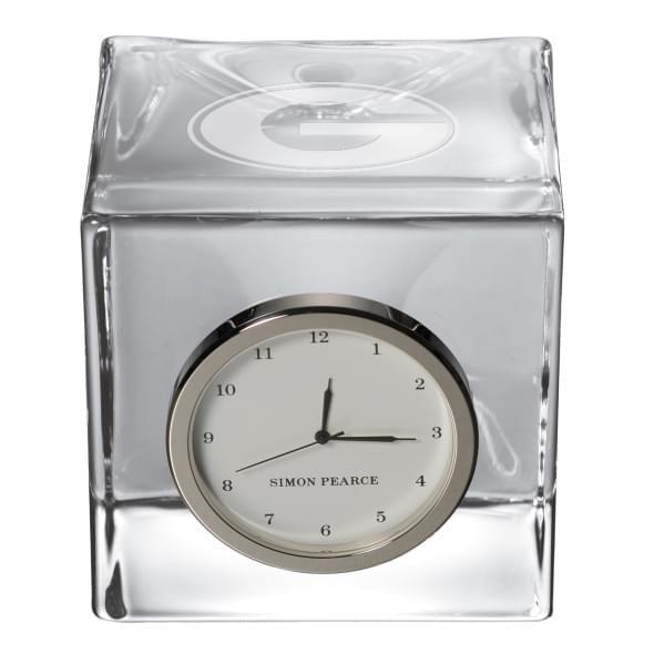 Georgia Glass Desk Clock by Simon Pearce - Image 2