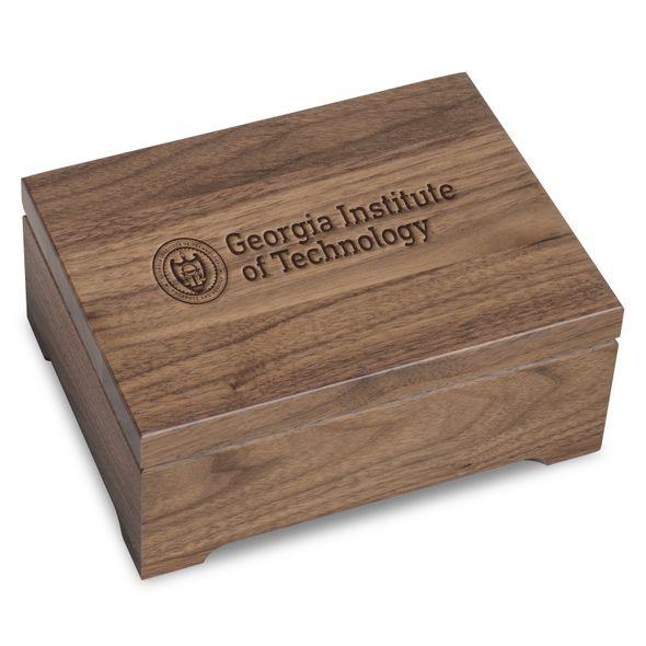 Georgia Tech Solid Walnut Desk Box